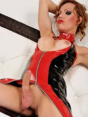 Alessandra is smoking hot in this latex outfit