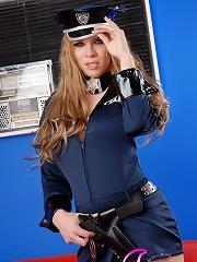 Officer TS Jesse exposing her secret weapon